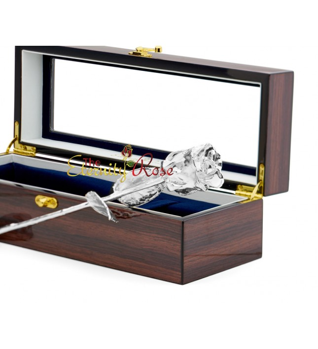 Platinum-Dipped Rose Woodgrain Window Case