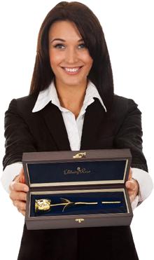 Gold-Dipped Rose Gloss Woodgrain Case
