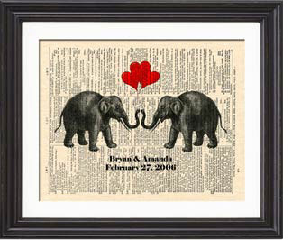 14th anniversary gift theme - elephants