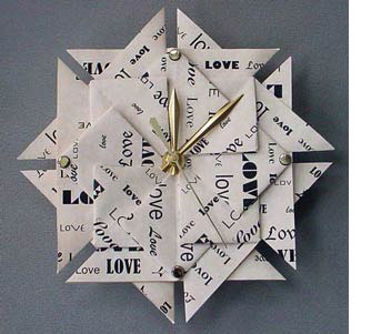 Paper clock for 1st wedding anniversary