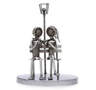Romantic iron figurines