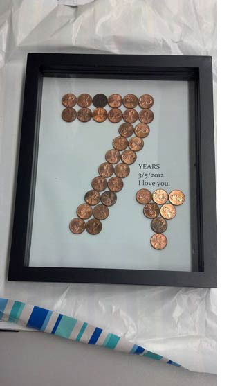 7th anniversary gifts your wife will truly treasure copper coins traditional 7th anniversary theme for gifts negle Gallery