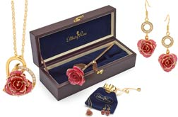 Glazed Rose & Jewelry Sets