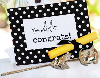 Graduation card and gift