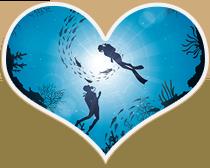 Couple underwater